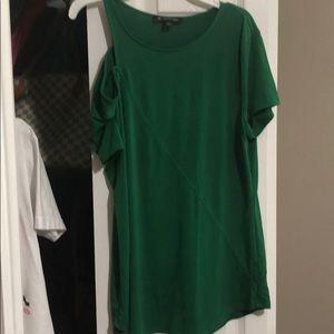 Green off shoulder Blouse